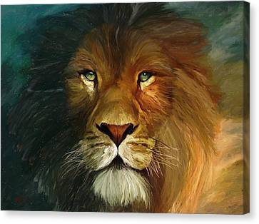 Lion Portrait Canvas Print