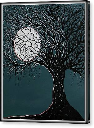 Bare Trees Canvas Print - Midnight by Madison Frasier