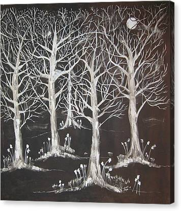 Midnight Mystery Forest Canvas Print