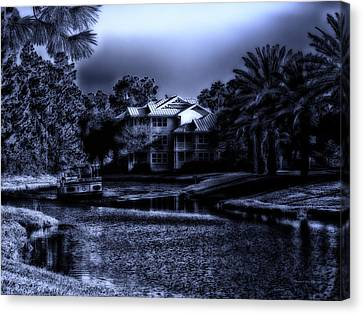 Midnight On The Delta Lady Canvas Print by Thomas Woolworth