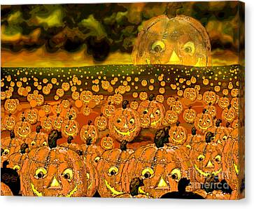 Midnight Pumpkin Patch Canvas Print