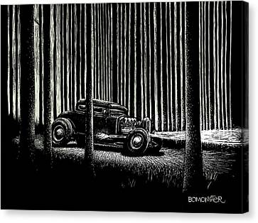 Hot Rod Canvas Print - Midnight Run by Bomonster