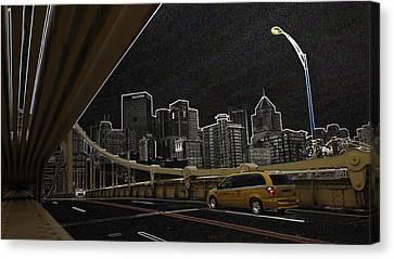 Midnight Run Canvas Print by Joyce  Wasser