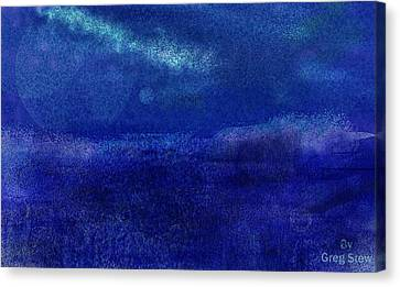 Midnight Sea Passage Canvas Print by Greg Stew