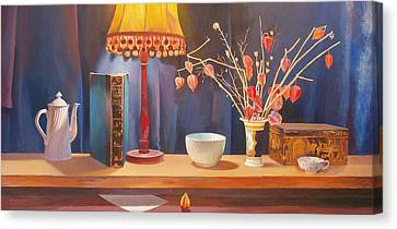 Midnight  Still Life Canvas Print by Terry Scales