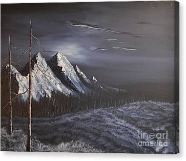 Canvas Print featuring the painting Midnight by Stuart Engel