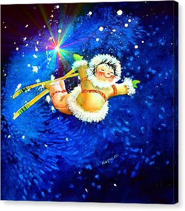 Midnight Sun Flyer Canvas Print by Hanne Lore Koehler