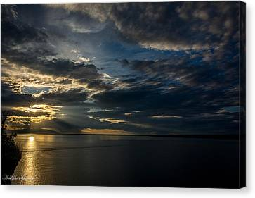 Midnight Sun Over Cook Inlet Canvas Print by Andrew Matwijec