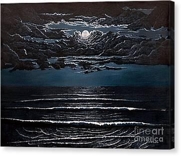 Midnight Surf Canvas Print