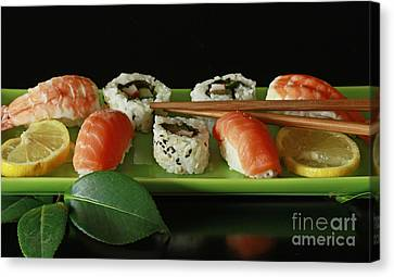Midnight Sushi Indulgence Canvas Print by Inspired Nature Photography Fine Art Photography