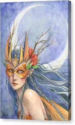 Midnight Warrior Canvas Print by Sara Burrier