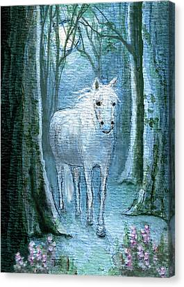 Canvas Print featuring the painting Midsummer Dream by Terry Webb Harshman