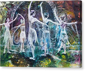 Midsummer's Eve Ballet Canvas Print by Patricia Allingham Carlson