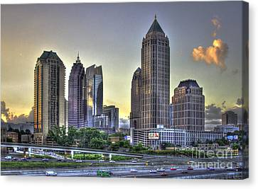 Midtown Atlanta Sunrise Canvas Print by Reid Callaway