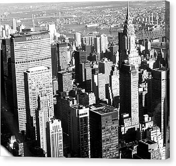 Midtown Manhattan 1972 Canvas Print by Steve Archbold