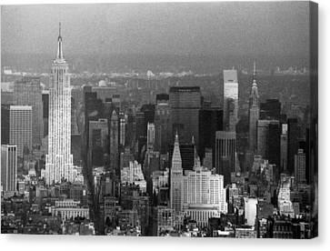 Midtown Manhattan 1980s Canvas Print by Gary Eason