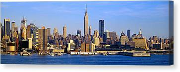Midtown Manhattan From New Jersey Canvas Print by Panoramic Images