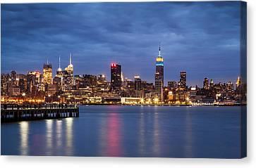 Canvas Print featuring the photograph Midtown Manhattan by Mihai Andritoiu