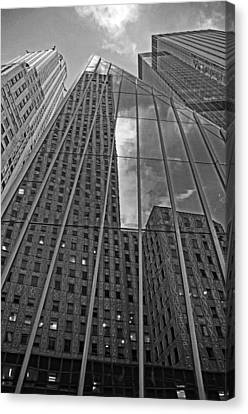Midtown Reflections Canvas Print by Mike Martin