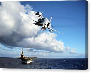 Midway Phantoms Canvas Print by Peter Chilelli
