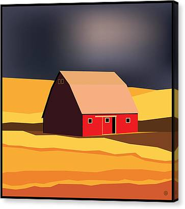 Midwest Barn Canvas Print by Gary Grayson