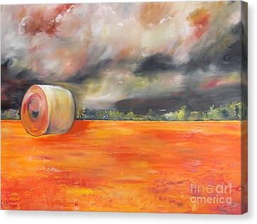 Canvas Print featuring the painting Midwest Grandeure by PainterArtist FIN