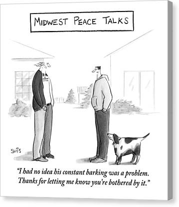 Midwest Peace Talks Canvas Print
