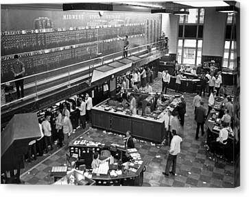 Midwest Stock Exchange Canvas Print by Underwood Archives