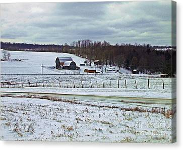 Midwinter On The Farm Canvas Print