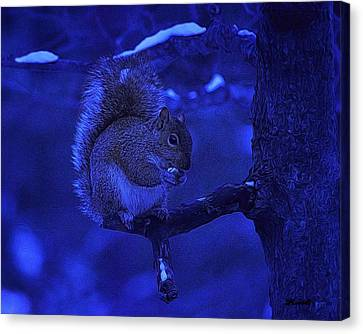 Midwinter Snack Canvas Print by Dennis Lundell