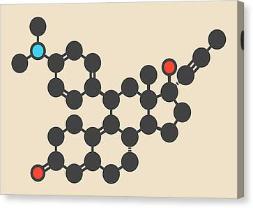 Mifepristone Molecule Canvas Print by Molekuul