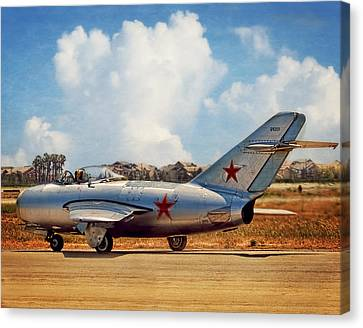 Mig-15 Canvas Print by Steve Benefiel