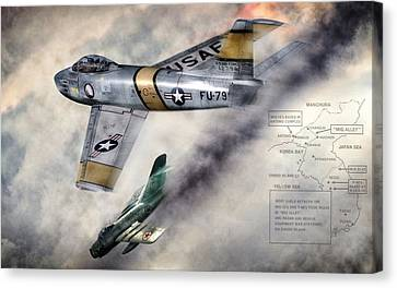 Mig Alley Canvas Print by Peter Chilelli