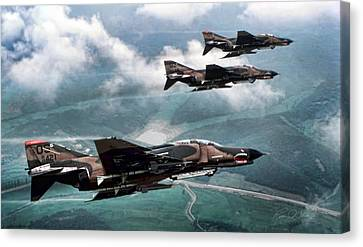 Vietnam Canvas Print - Mig Killers by Peter Chilelli