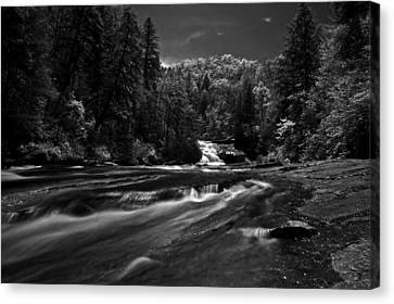 Canvas Print featuring the photograph Might Get Wet by David Stine