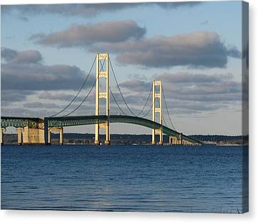 Mighty Mac In December Canvas Print by Keith Stokes