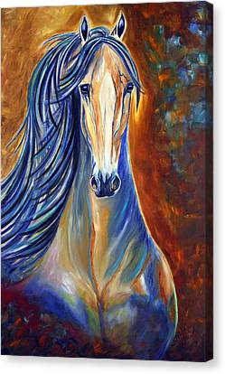 Canvas Print featuring the painting Mighty Mare Horse by Jennifer Godshalk