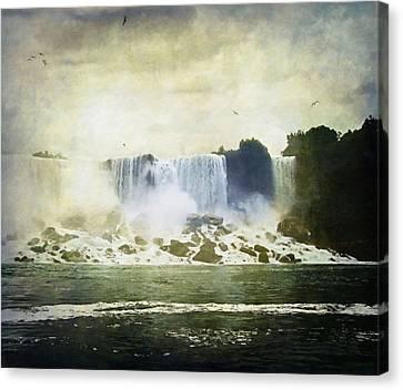 Mighty Niagara Canvas Print by Lianne Schneider