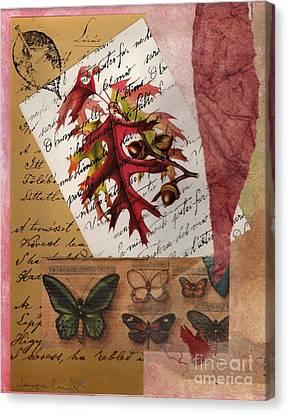 Mighty Oak Little Acorn Canvas Print by Tamyra Crossley
