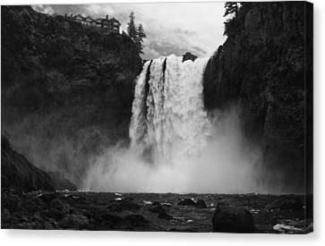 Mighty Snoqualmie Canvas Print by Mark Kiver