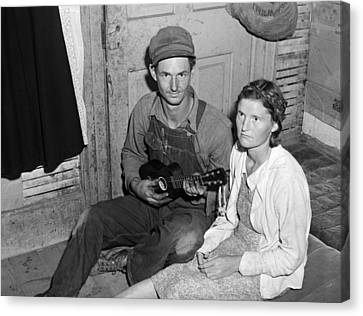 Migrant Couple, 1940 Canvas Print by Granger