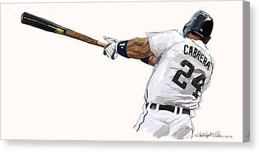 Miguel Cabrera Mash Canvas Print by Chris Ross