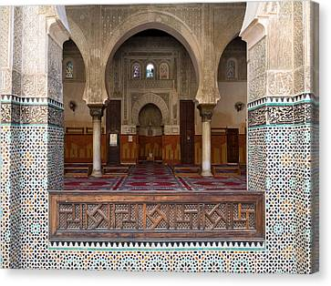 Mihrab Of The Bou Inania Madrasa, Fes Canvas Print by Panoramic Images
