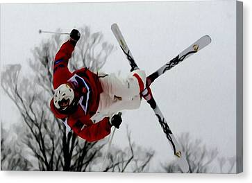Mikael Kingsbury Skiing Canvas Print by Lanjee Chee