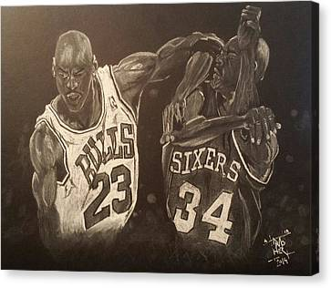Mike And Sir Charles Canvas Print by DMo Herr