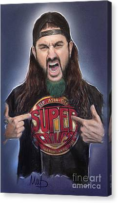 Drummer Canvas Print - Mike Portnoy by Melanie D