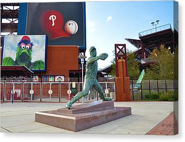 Steve Carlton Statue - Phillies Citizens Bank Park Canvas Print by Bill Cannon