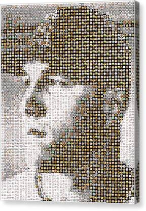 Mike Trout Mosaic Canvas Print by Paul Van Scott