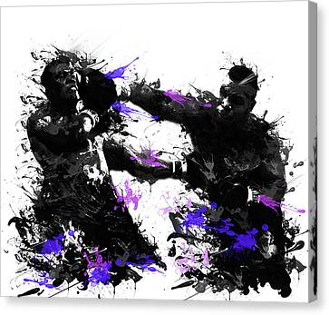 Abstract Digital Canvas Print - Mike Tyson by Bekim Art
