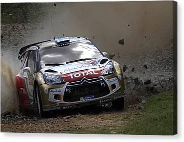 Mikko Hirvonen Fia World Rally Championship Australia Canvas Print